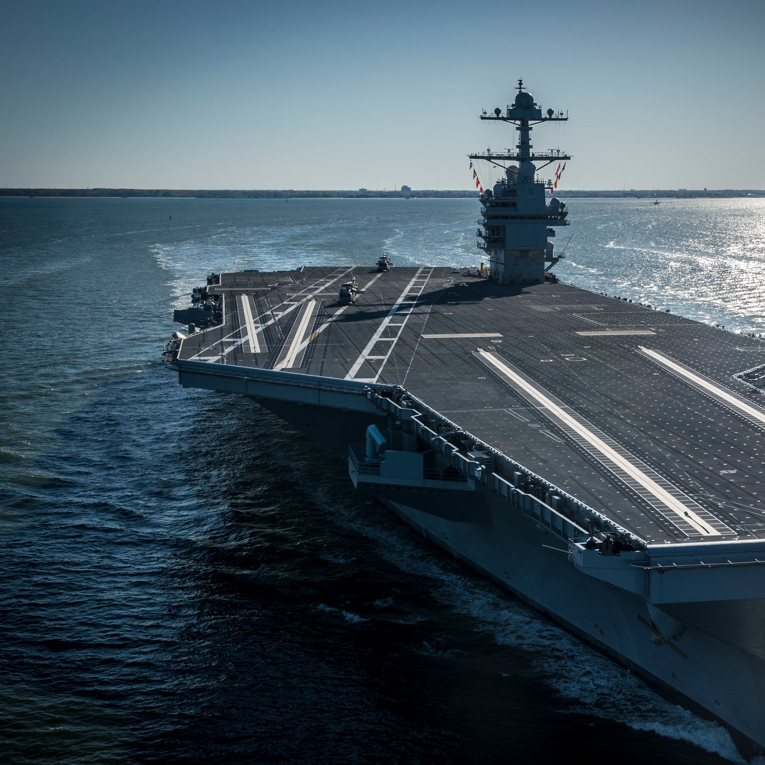 CVN Gerald R Ford class ship image