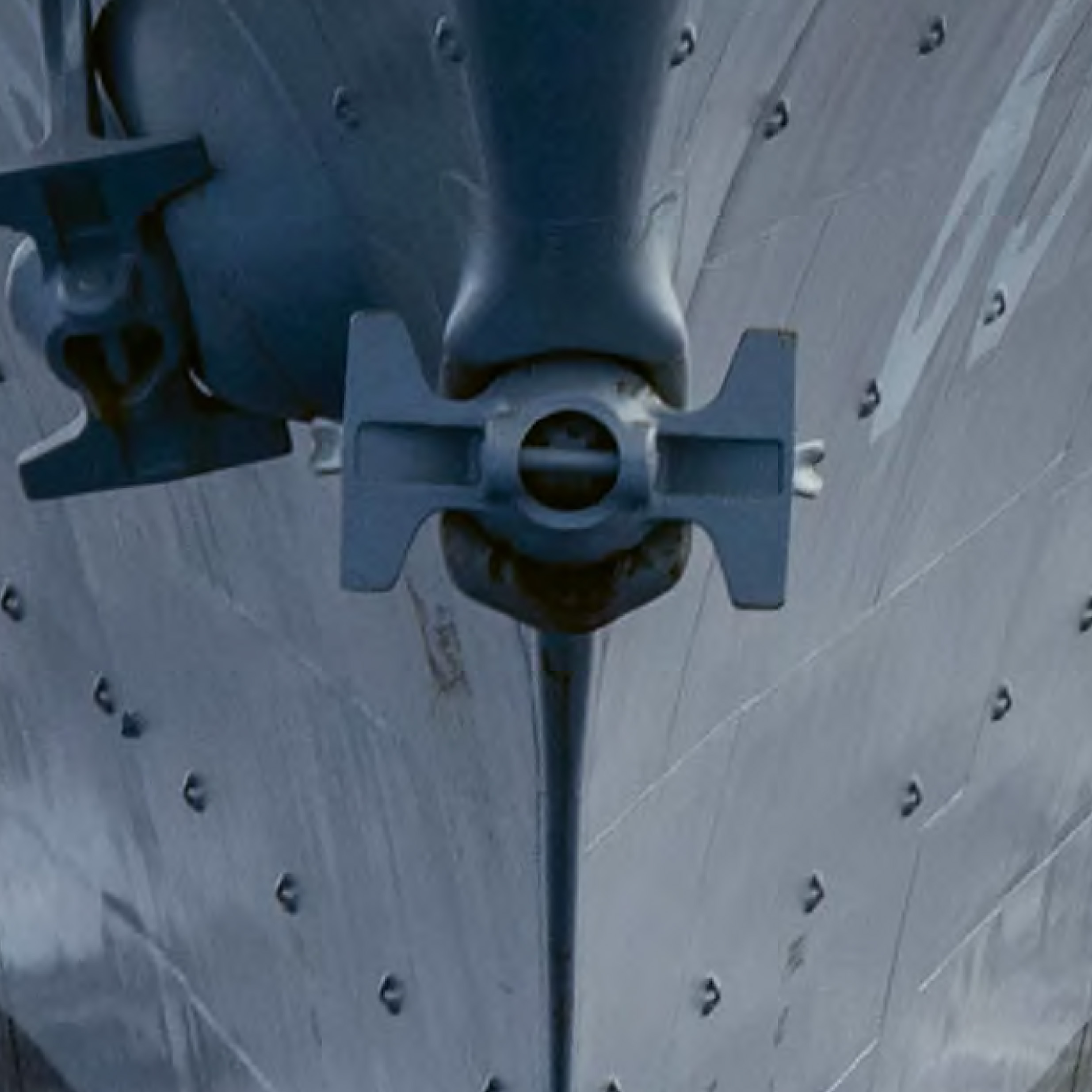 Close up image of Ship propeller