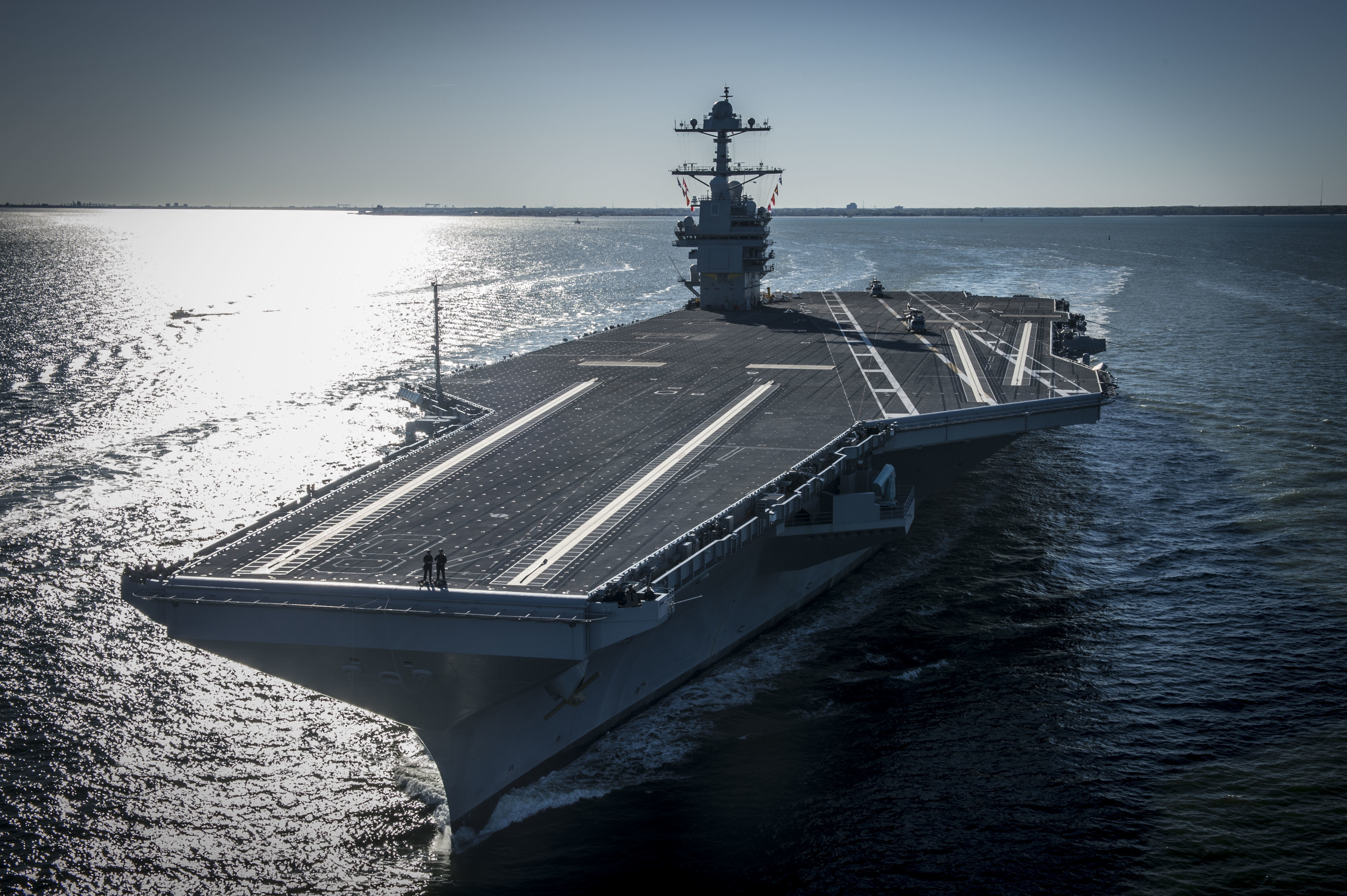 Image of CVN 78 at sea trials